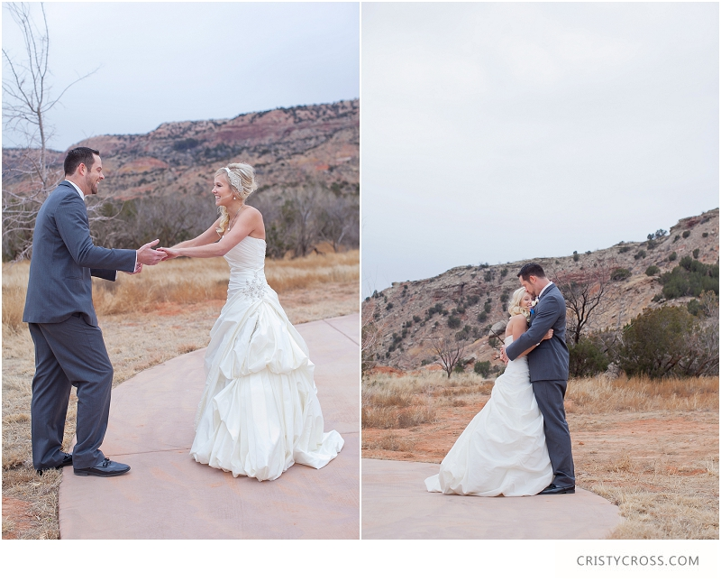 Kade and Courtney's Freezing Cold First Look Palo Duro Canyon, Texas Wedding taken by Clovis Wedding Photographer Cristy Cross_0001.jpg