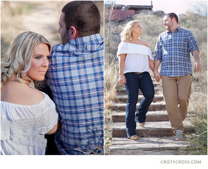 Alex and Matt's Lubbock, Texas Woodsy Engagement Session taken by Clovis Wedding Photographer Cristy Cross_0003.jpg