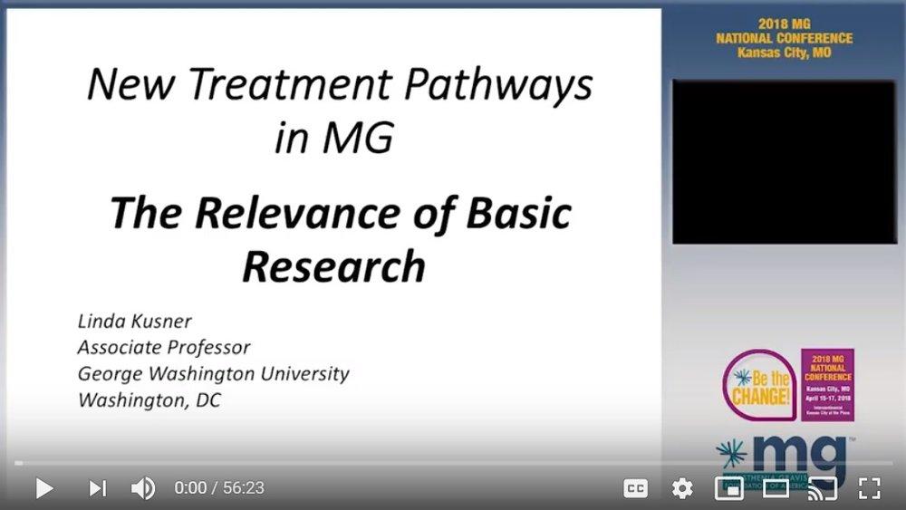 New Treatment Pathways in MG - Myasthenia Gravis Foundation of America
