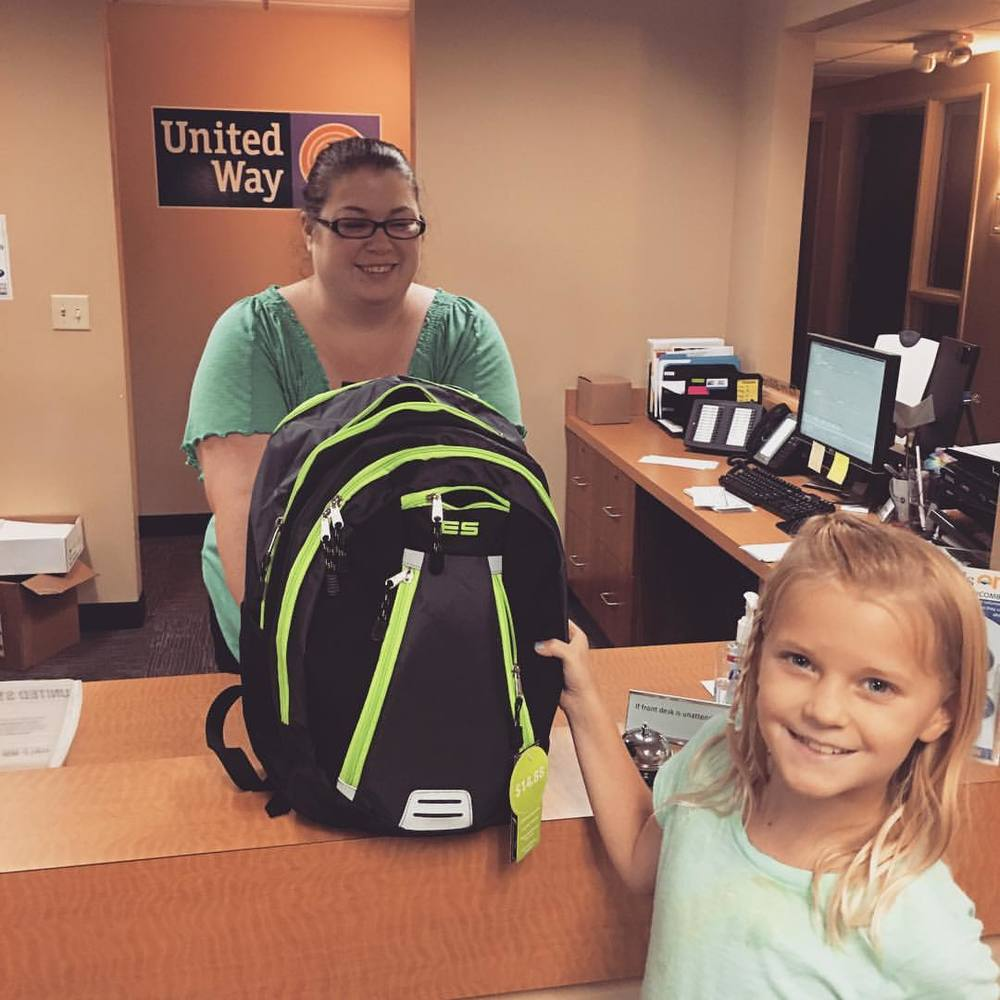"For Cory James Connell, who is remembered by former teachers as the ""sweetest kid ever,"" we donated a new backpack full of supplies to help a Western NC kid start the school year off right.    We were in North Carolina on vacation and had the chance to stop by  United Way of Buncombe County  to help out with the group's back to school drive."