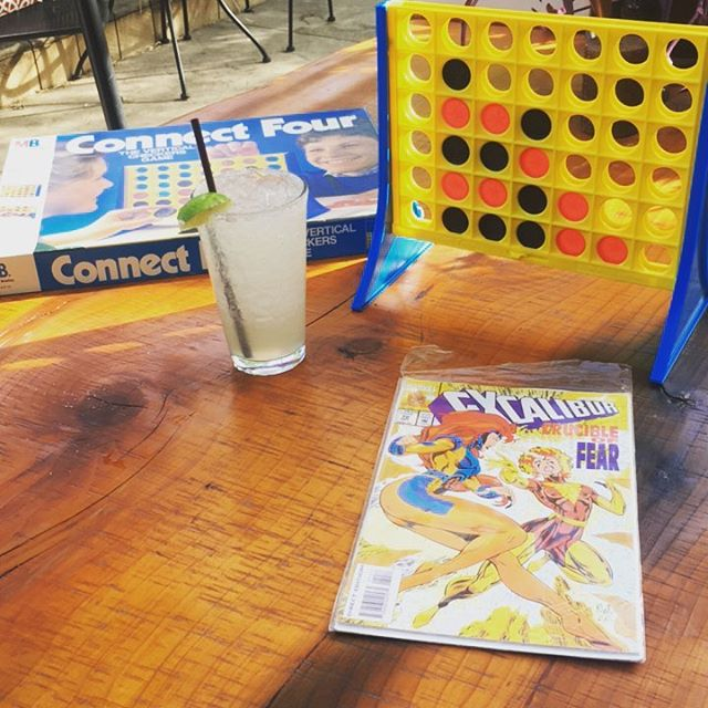 Come relive your #childhood with us. But also do some #adulting over a #margarita or two!!! #xmen #connectfour #idontwanttogrowup #pdxdrinks #nopo