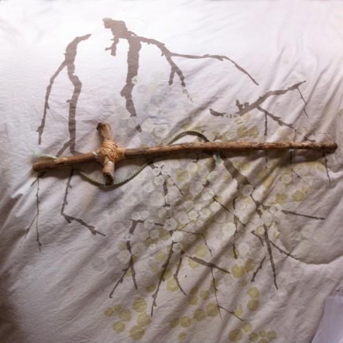 Blossom sword, inkjet print, 20 x 20 cm