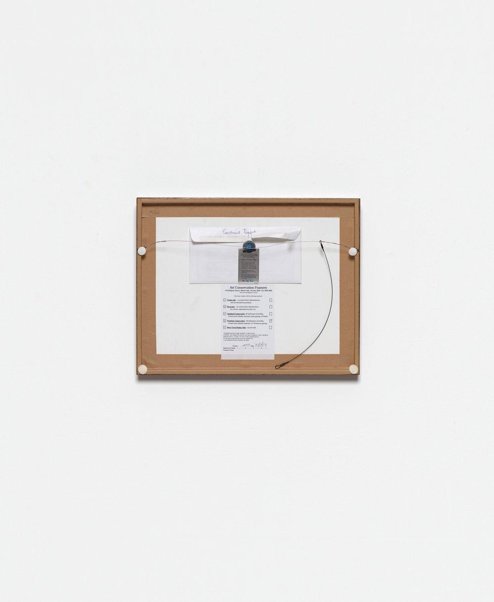 Back of William's Tree Pruning, Siri Hayes,  2017, Inkjet on cotton rag art paper, 98 x 118cm
