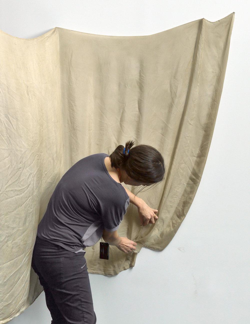 Green cloth after Bale, Siri Hayes, 2017, Inkjet on cotton rag art paper, 58 x 75cm