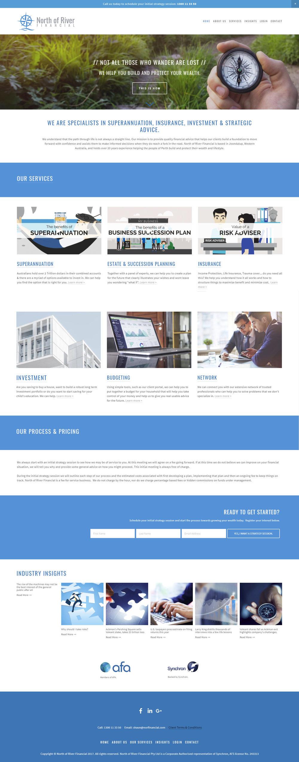 Financial Website design by Handsome Ground Studio