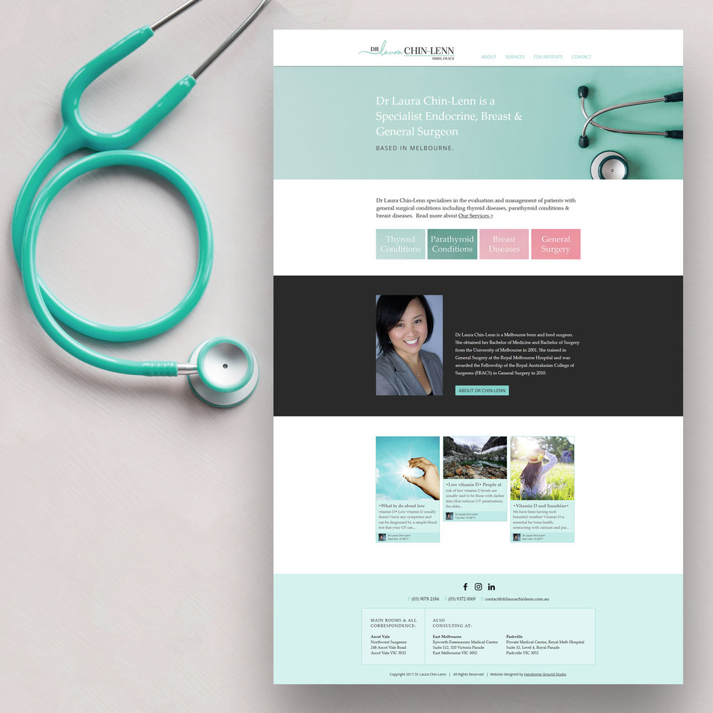 Specialist Surgeon Website designed by Handsome Ground Studio