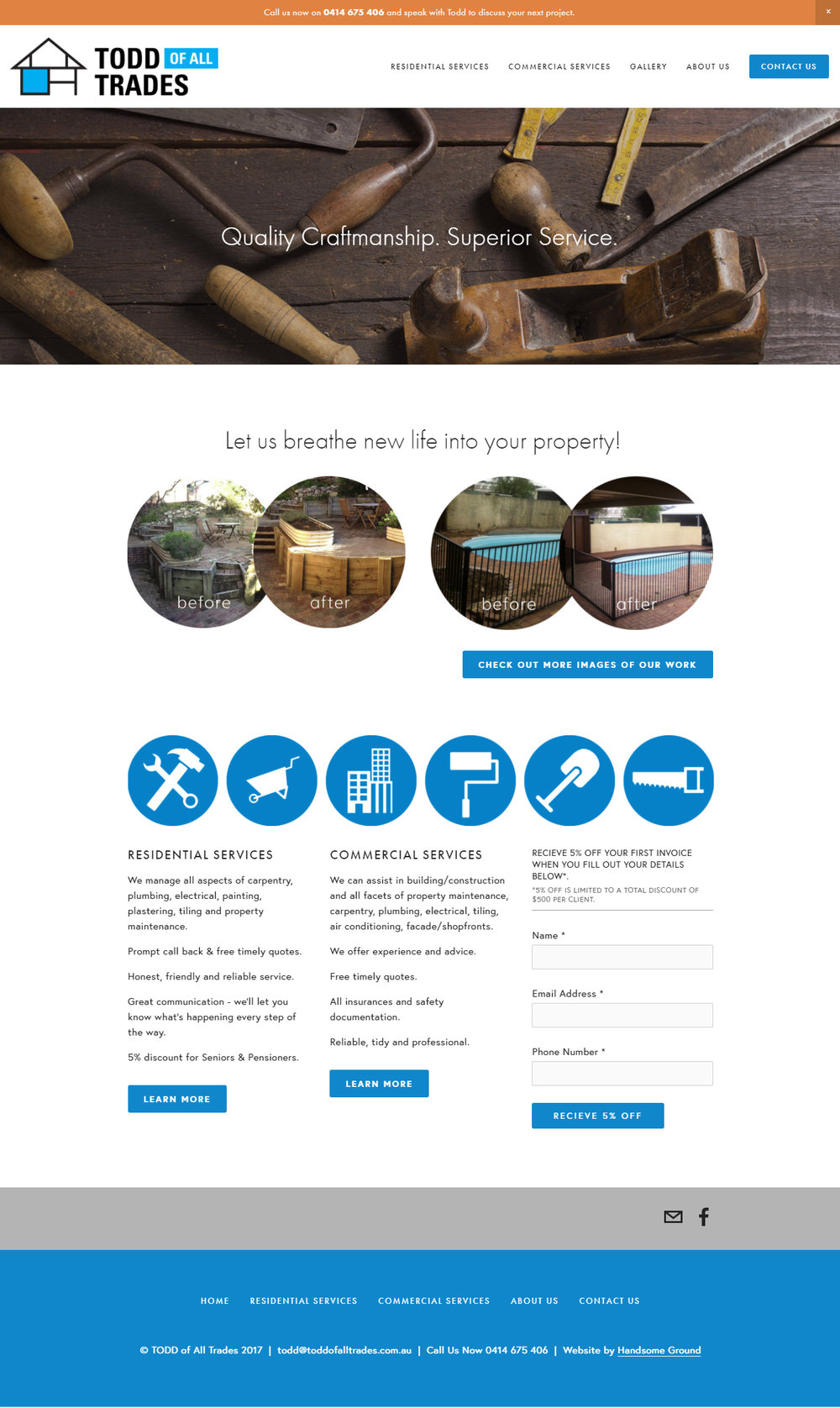Home Builder Website Designed By Handsome Ground Studio