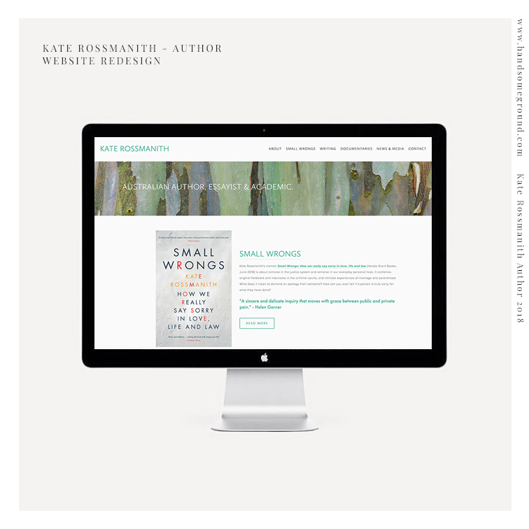 Author Squarespace Website designed by Handsome Ground Studio