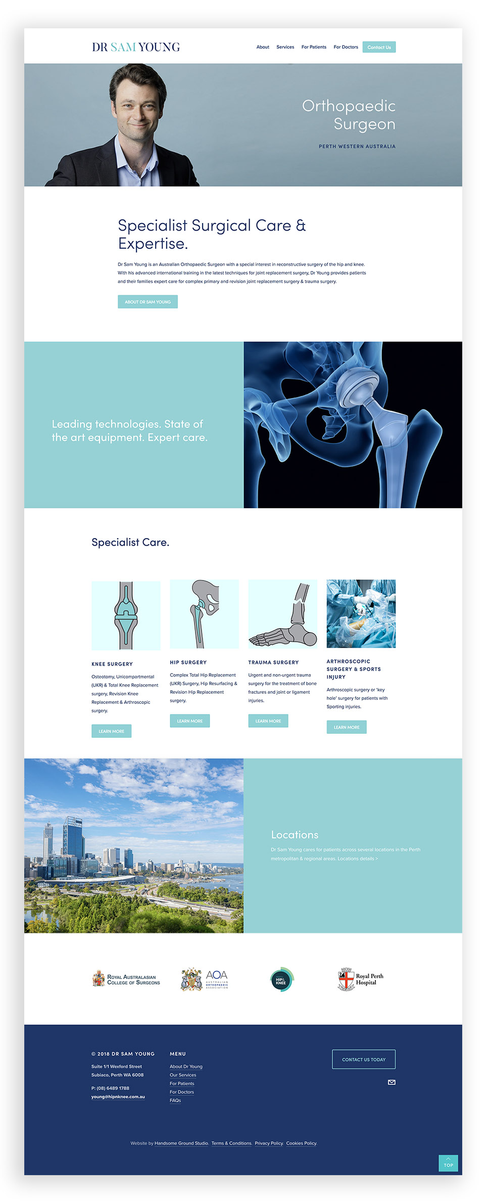 Website Design & Branding for Orthopaedic Surgeon