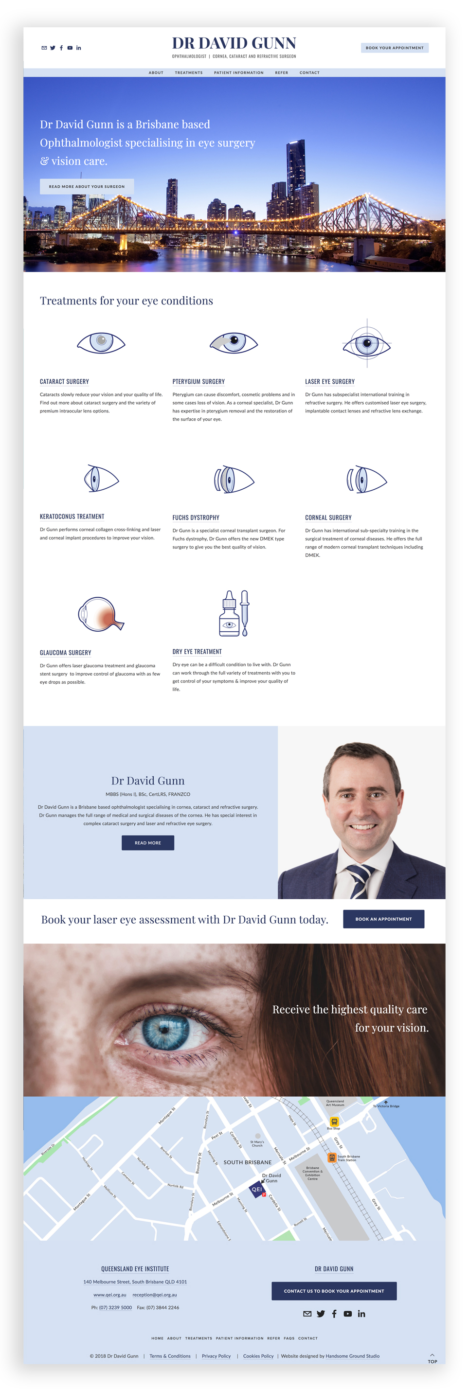 Website Design & Branding for Ophthalmologist Brisbane