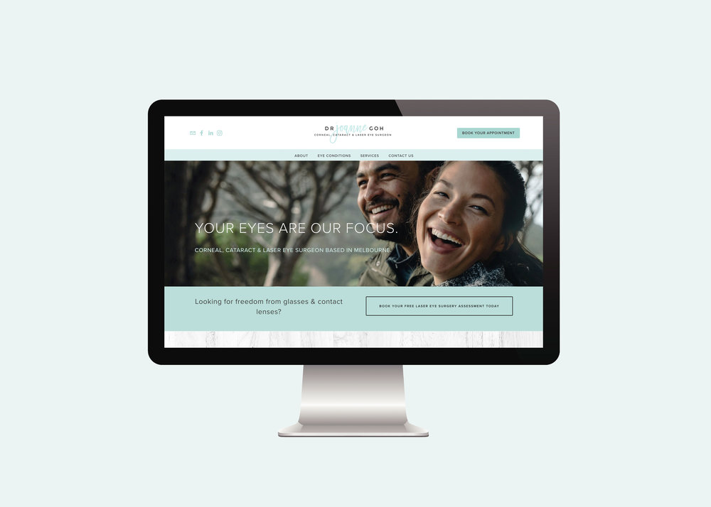 Ophthalmologist Website designed by Handsome Ground Studio