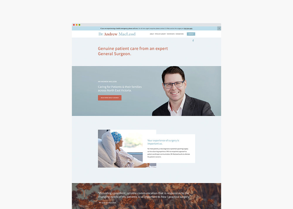 General Surgeon Website & Branding