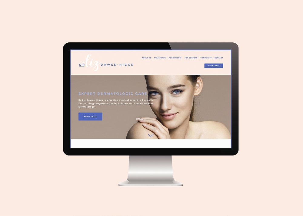 Dermatologist Website for Dr Liz Dawes-Higgs