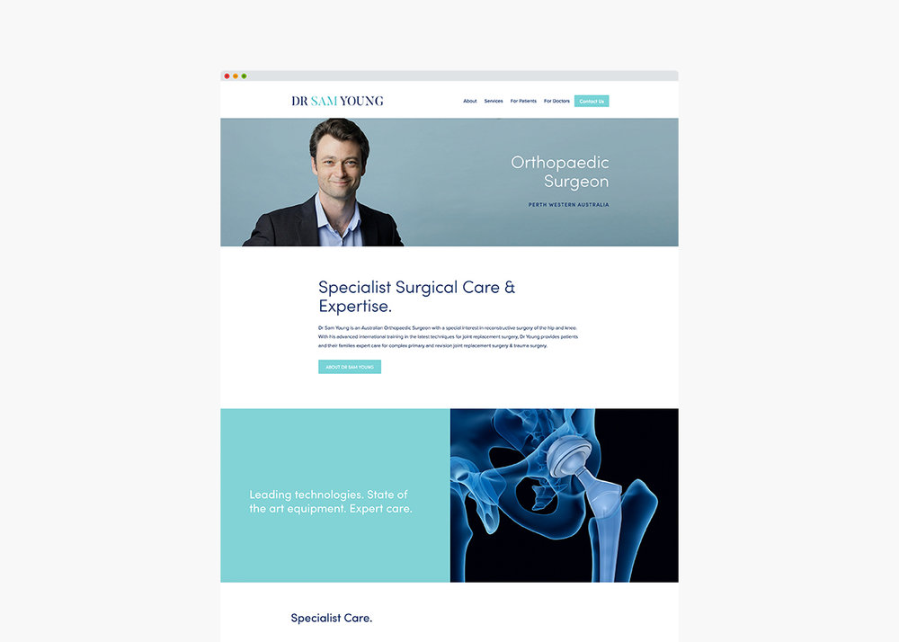 Orthopaedic Surgeon Medical Website & Branding
