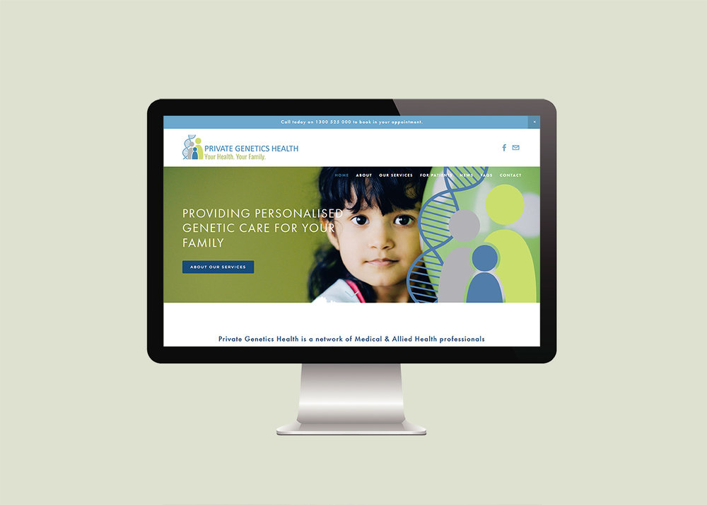 Genetic Counsellor Website Design