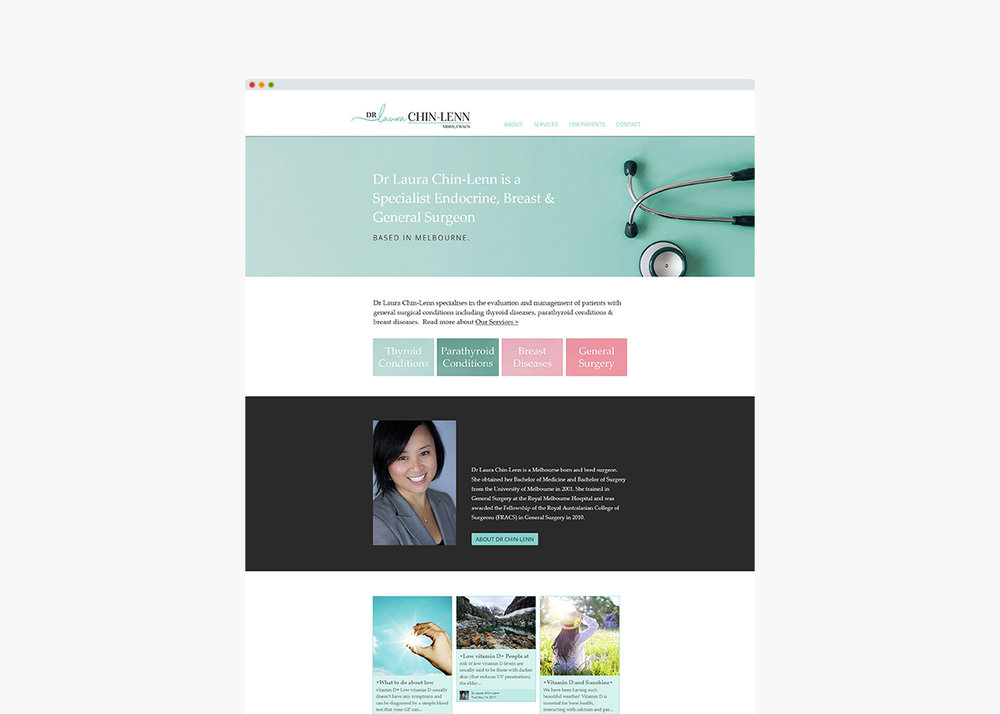 Laura Chin-Lenn Website by Handsome Ground Studio.