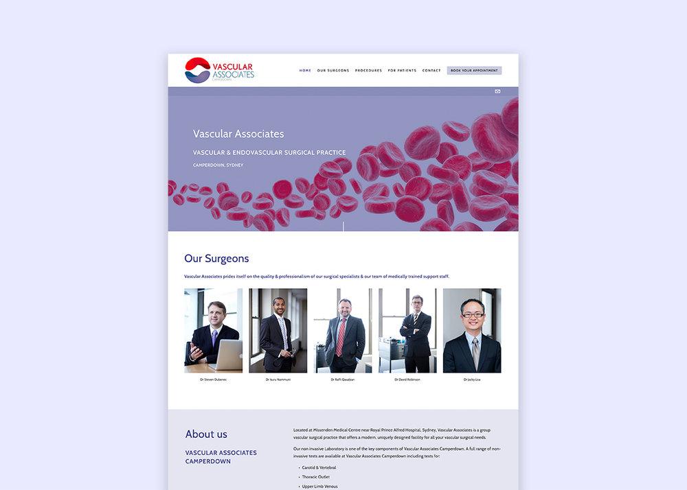 Vascular Suregon Medical Website Design
