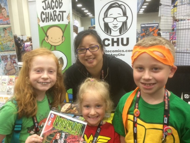 My daughter loves the scientific-minded and independent Poison Ivy - so glad to have met the author Amy Chu.