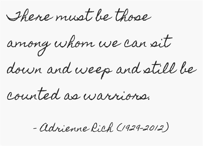 adrienne rich, warriors.jpg