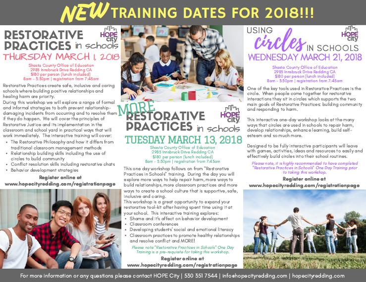 2018 Workshops