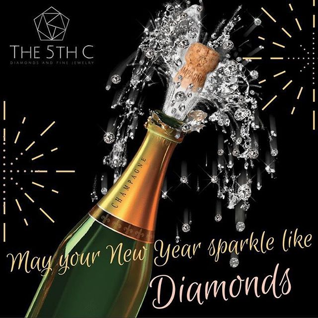 From The 5th C to all our friends and supporters. Shine bright like a diamond in 2018. ✨ #HappyNewYear #2018 #Diamond #Jewelry #The5thC
