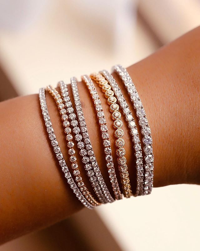 When one simply just isn't enough. What do you think of our diamond bracelets in white, yellow & rose gold? • • • • • #diamondsareagirlsbestfriend #diamonds #diamond #diamondbracelet #bracelet #earrings #jewels #luxury #whitegold #luxurygoods #jewellery #handmade #bespoke #jewelry #jewelrydesigner #jewellerydesigner #jewellery #hkig #gia #fbloggers #fblogger #the5thc #fashion #luxury