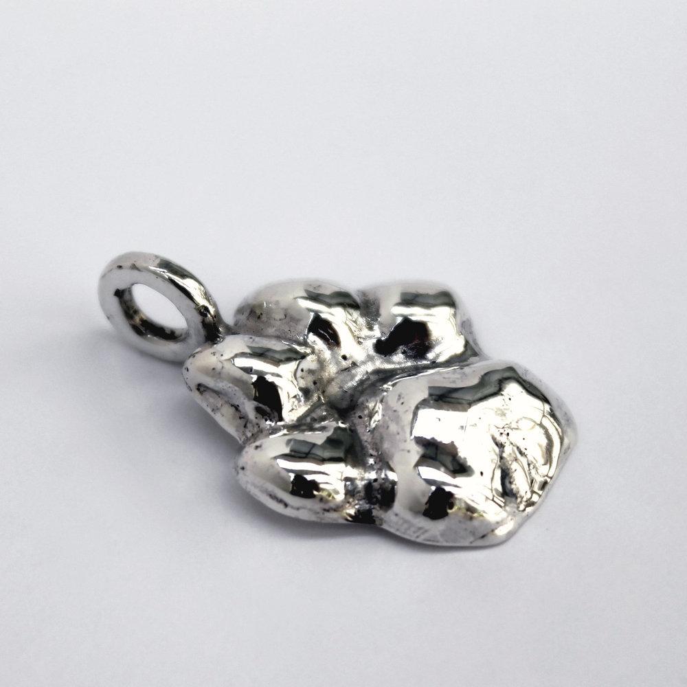 REDUCCIÓN   Con nuestro escáner e impresora 3D, diseñamos una hermosa réplica de la huellita de tu compañero para llevarla en un bello dije o anillo (producto exclusivo).