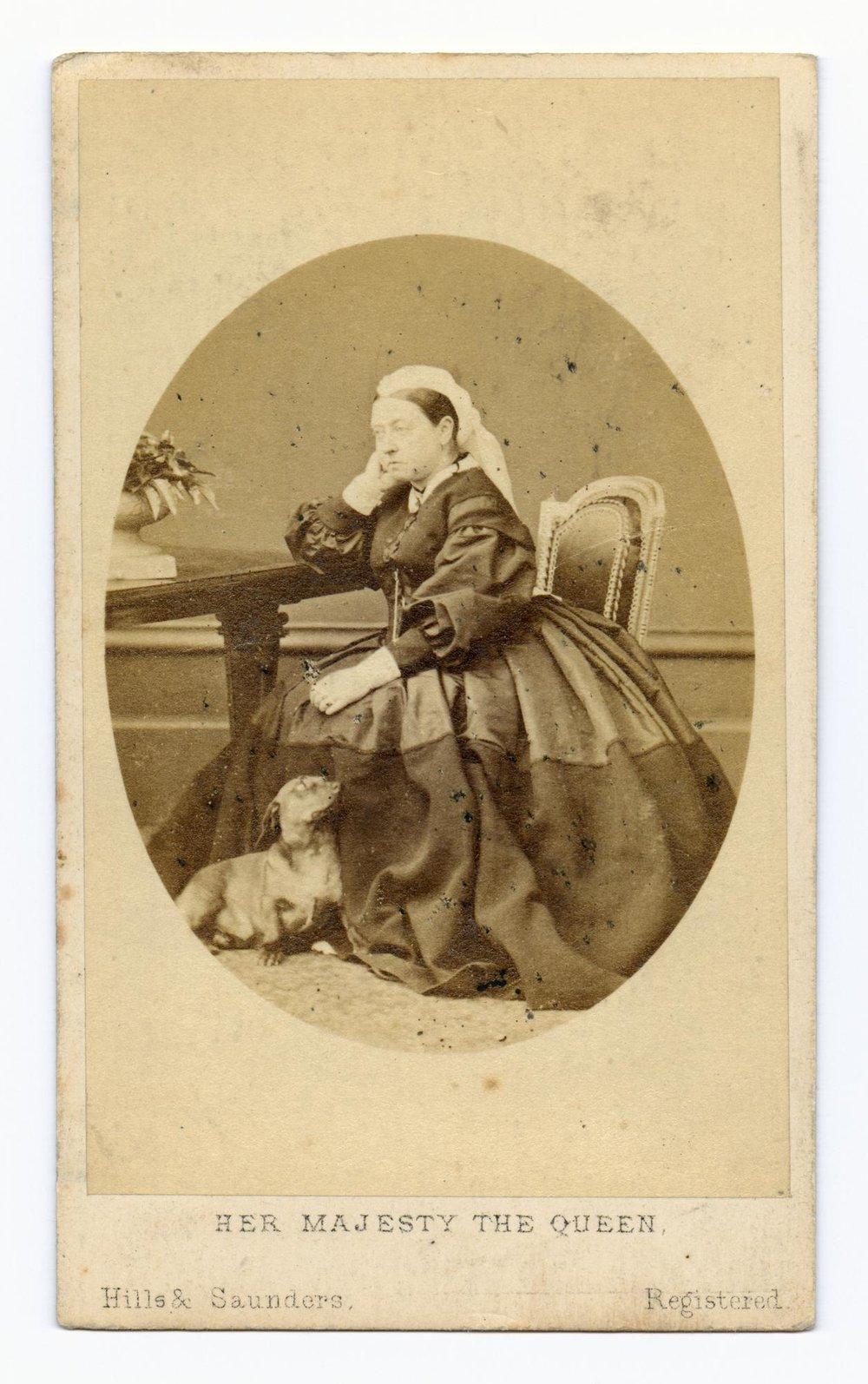 La Reina Victoria y su perro salchicha,  su sucesora ahora es fan de los corgi .