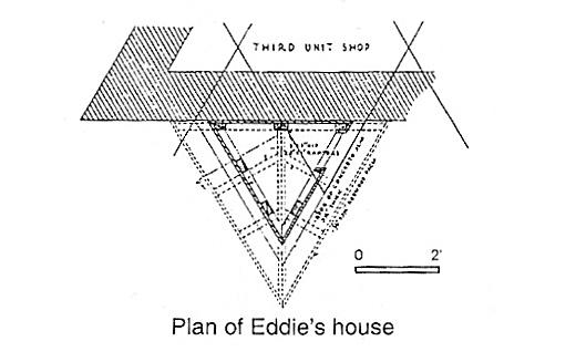 Documento con los planos para casa de Frank Lloyd Wright