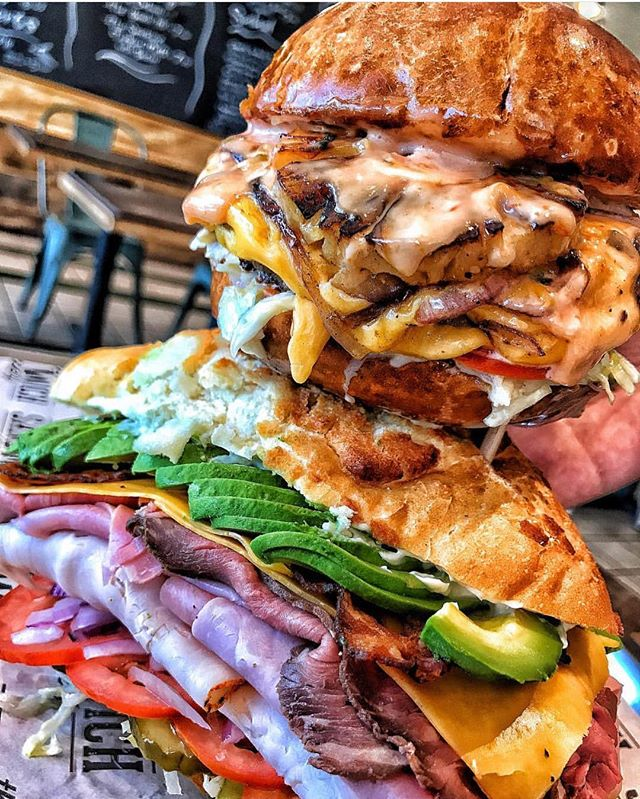 One of our all time favorite shots by @thefoodhop 🤤 The Hawaiian and The Menace, stacked! 📍 @thesandwichsociety • • • #foodbeast #foodie #dinela #tryitordiet #cheese #eatfamous #dailyfoodfeed #devourpower #tastingtable #sandwiches #foodporn #delicious #lunch #f52grams #eatmunchies #nomnom #foodblogger #EEEEEATS #buzzfeedfood #grubzone #zagat #foodiefeature #foooodieee #feastagram #yelp #yelpoc #feastonthese #foodnetwork #abc7eyewitness