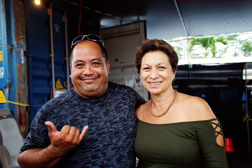 Chad Aiona and Rene Ahu, friends of my dad and residents of Puna, Hawaii.