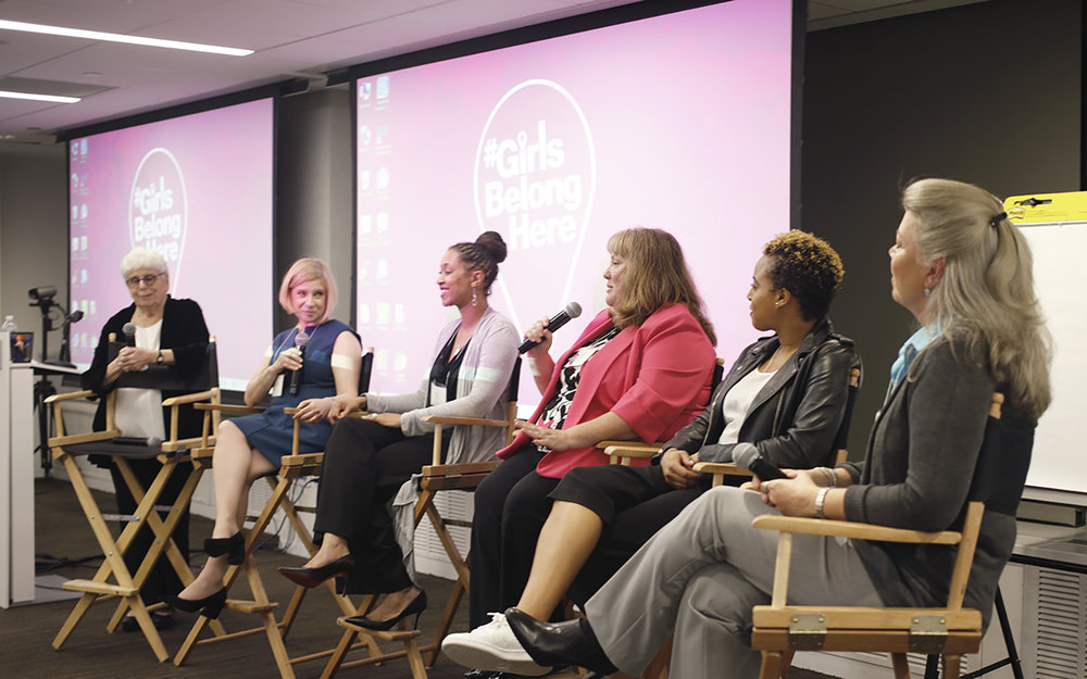 A panel of inspiring women sharing their stories of breaking gender norms in the workforce.