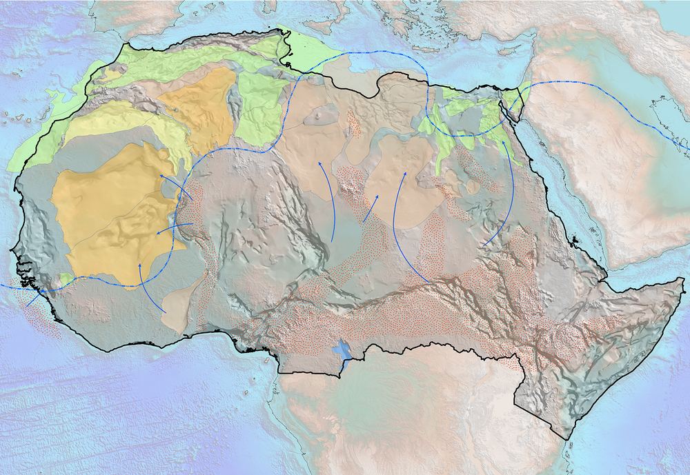 Event basin phase maps included in SEEBASE Onshore North Africa Multi-Client product.