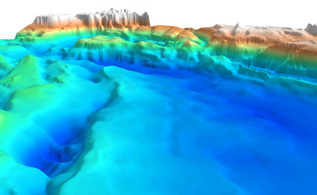 3D SEEBASE view of the Gulf of Mexico.