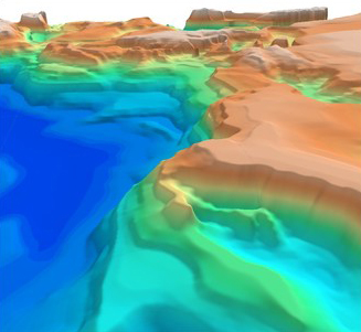 3D SEEBASE view of the Black Sea.