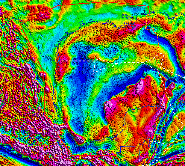 Gulf of Mexico SEEBASE Lite includes Frogtech Geoscience's proprietary enhancements of Core Datasets including gravity (above), magnetics and DEM.