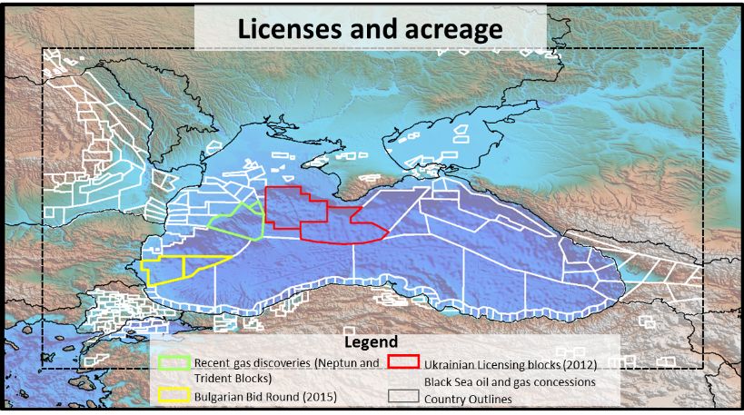 Black Sea SEEBASE Lite - Digital Elevation Model showing complete product coverage of all permit areas.