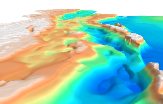 3D image of the Myanmar depth-to-basement SEEBASE.