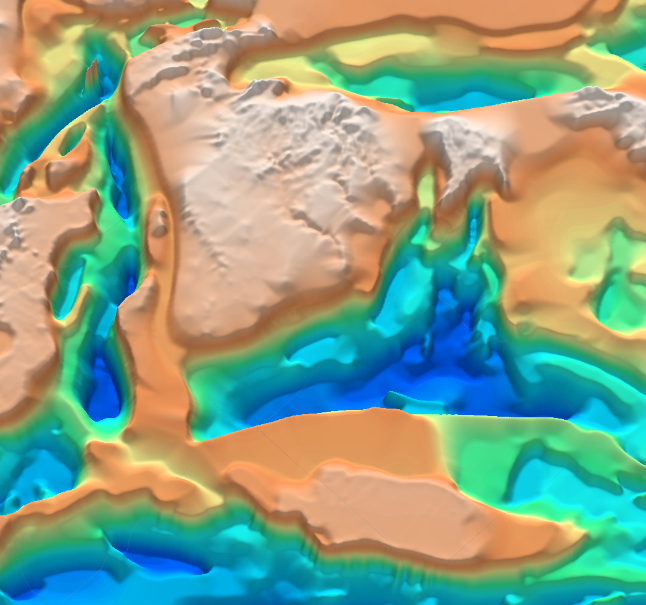 3D oblique view of the Onshore North Africa SEEBASE.