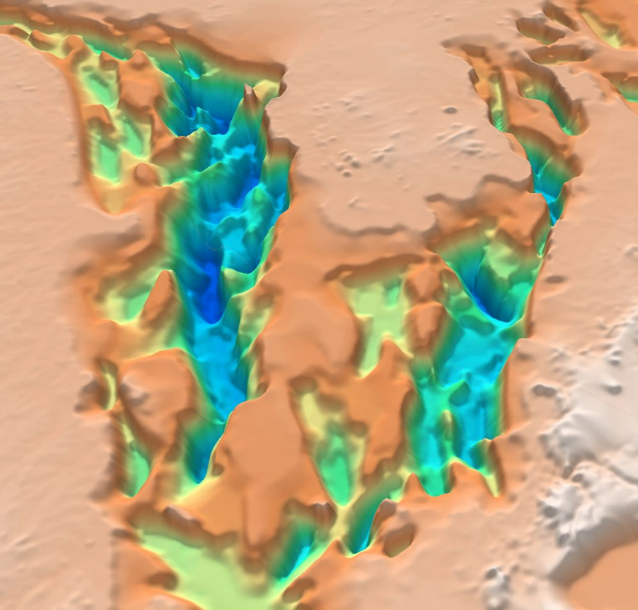 3D oblique view of the North Africa SEEBASE