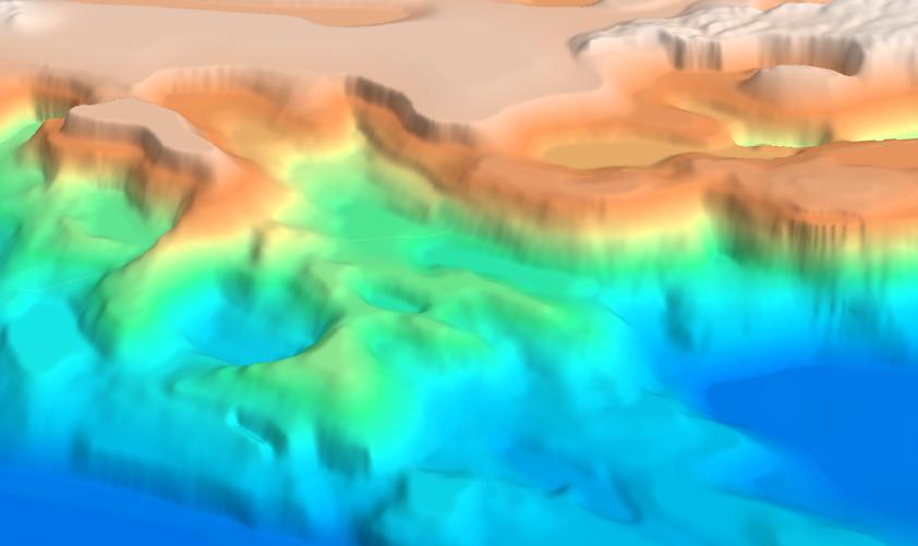 Oblique 3D view of the Black Sea SEEBASE.
