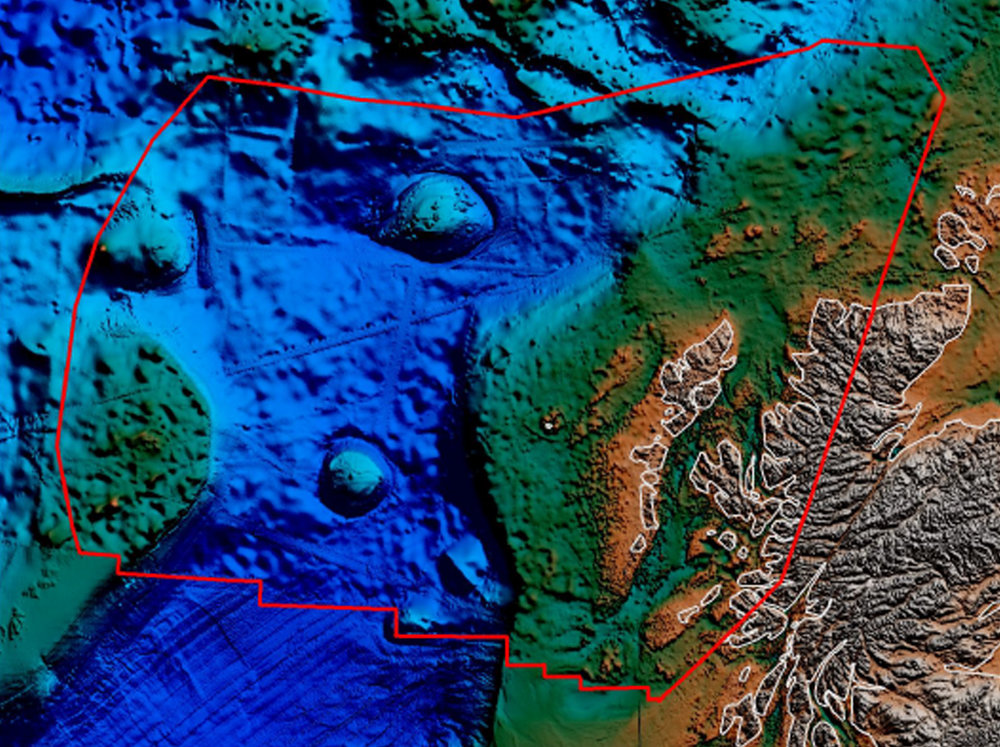 Rockall Trough Study  - Area of Interest (red polygon) showing coverage.