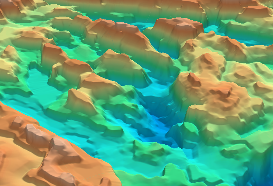 Oblique 3D image of part of the Mid North Sea High SEEBASE®.