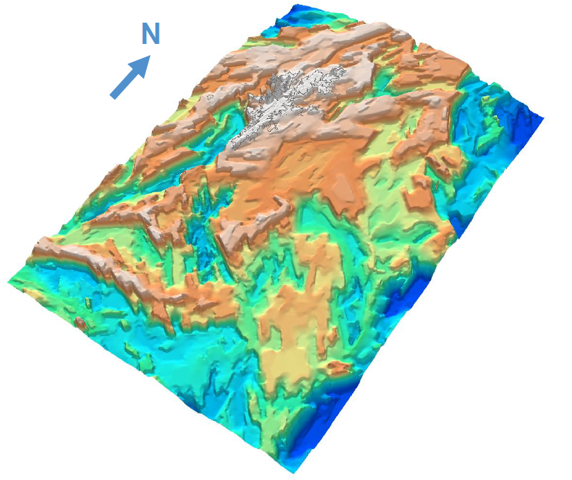 Oblique 3D View of the East Shetland Platform SEEBASE