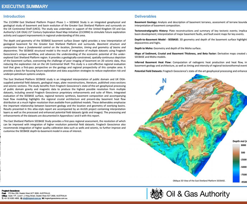(Above) UK Oil and Gas Authority UK Continental Shelf SEEBASE Study report excerpt.