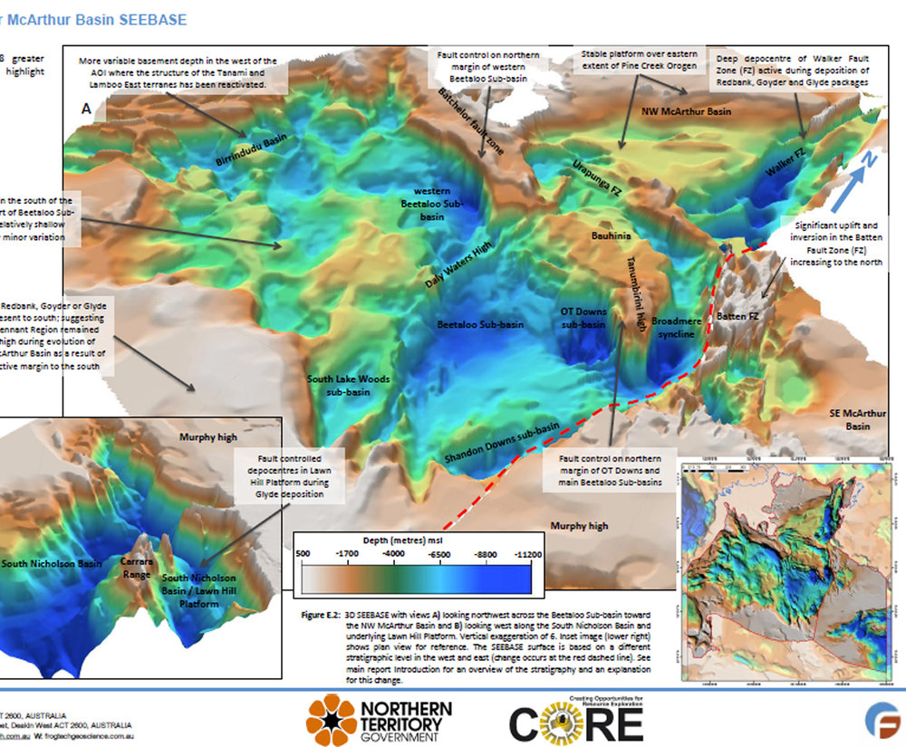 Northern Territory Government Geological Survey Greater McArthur Basin SEEBASE STudy report excerpt.
