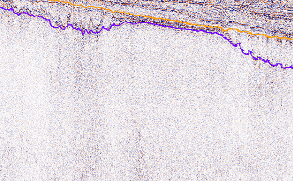 Seismic image showing limitations beneath salt bodies.
