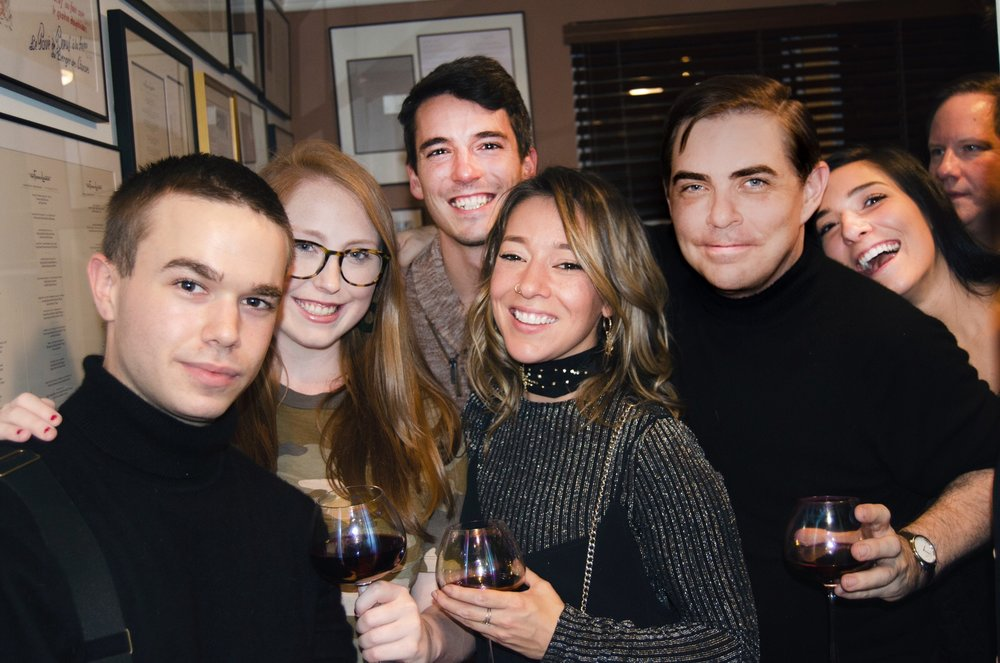 A reunion from the staff of the Romio App at he 360bespoke Holiday Party. Left to right: Zen Pace, Jenny Maughan, Fillip Hord (of @horderly), Sara Stannard (@stylesarah) and Jamie Hord (@horderly)