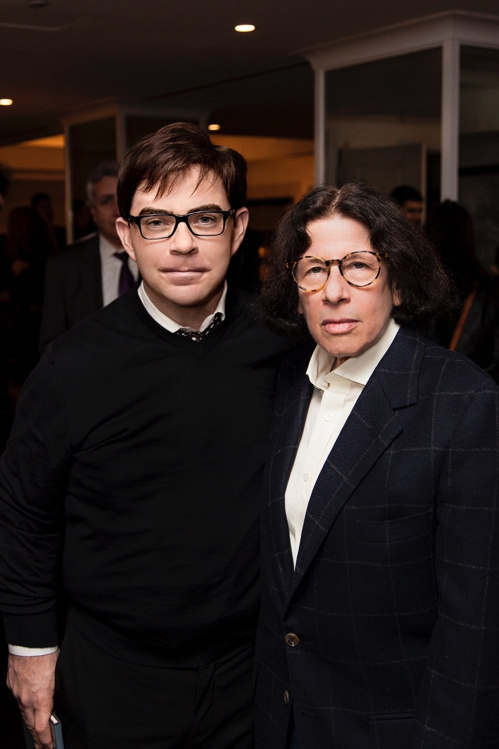 360bespoke founder Jeremy Murphy with noted author/ commentator/ media gadfly Fran Lebowitz at The Surrey hotel.