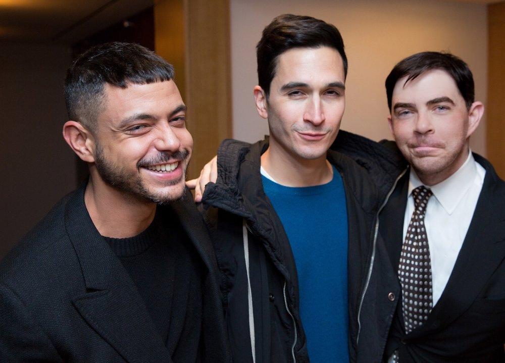 Stylist Chris Campbell, Proenza Schouler's Lazaro Hernandez and 360bespoke founder Jeremy Murphy